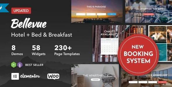 Bellevue- WordPress Travel Themes For Agencies, Hotels, Hostels, Vacation Rentals