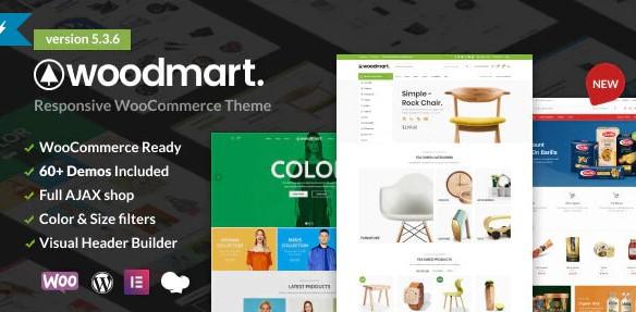 Woodmart - Top 10 WordPress eCommerce themes 2021