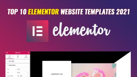 Top 10 Elementor website templates 2021