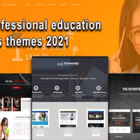 Top 10 professional education WordPress themes 2021