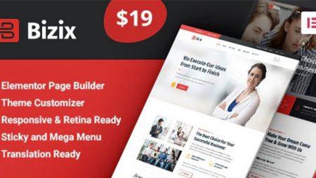Bizix: Corporate and Business WordPress Theme