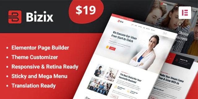 Bizix: Corporate and Business WordPress Theme