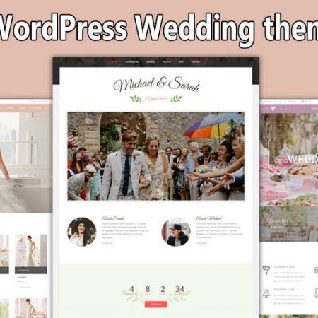 Top 10 WordPress Wedding themes 2021