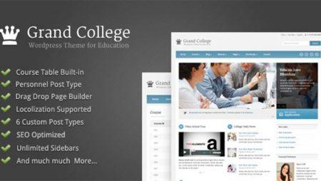 Grand College – WordPress Theme For Education