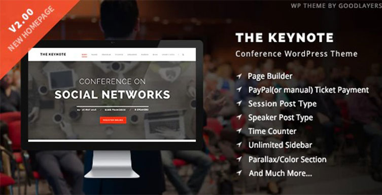 The Keynote – Conference / Event WordPress