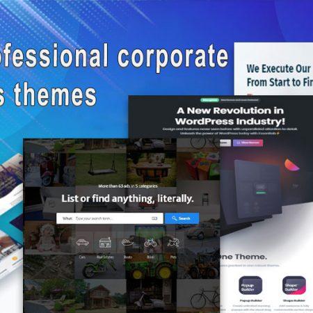 Top 10 professional corporate WordPress themes