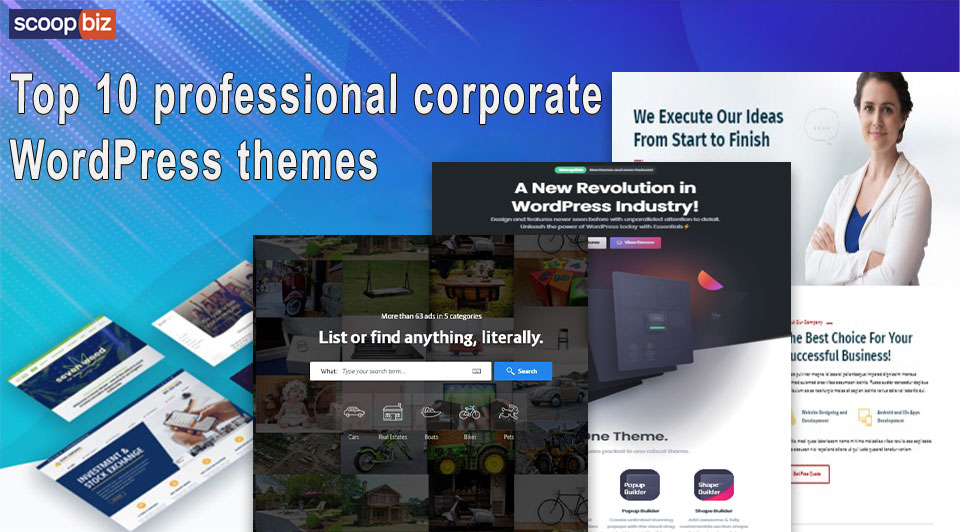 Top 10 professional corporate WordPress themes