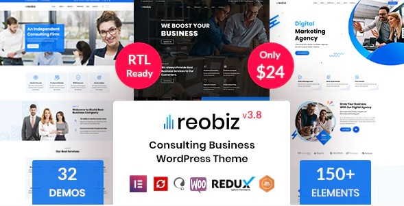 Reobiz: Consulting Business WordPress Theme