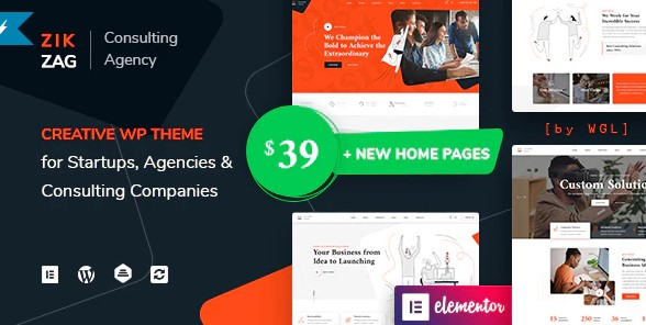 ZikZag: Consulting & Agency WordPress Theme