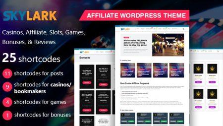 Skylark-The Best Casino WordPress Theme