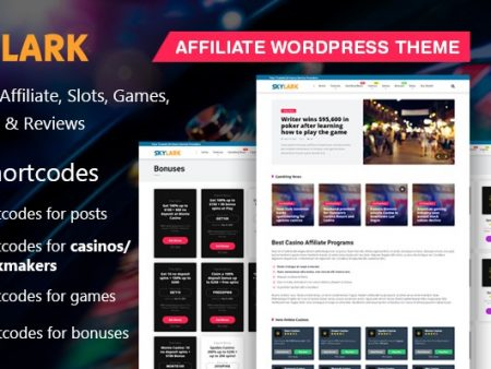 Skylark-The Best Casino WordPress Theme