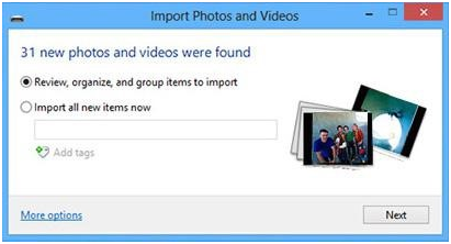imports photos and videos