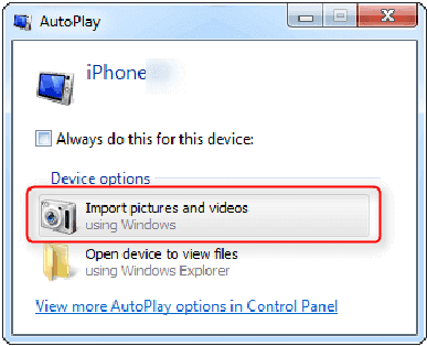 transfer wirelessly is to use Windows AutoPlay