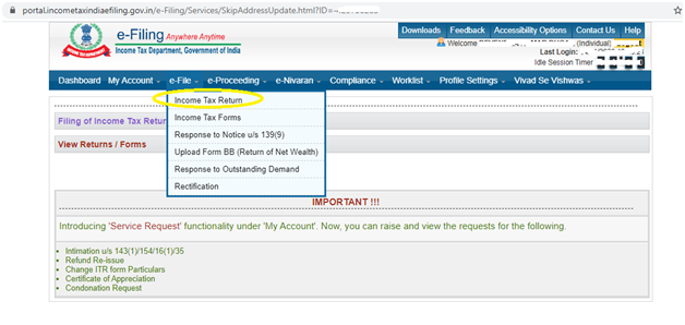 Complete guide to e-file your ITR