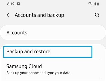 back up your Android phone