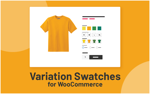 Variation Swatches and Photos foe WooCommerce to customize product page