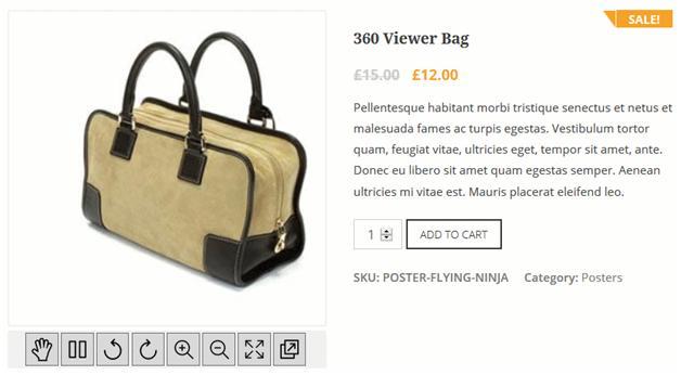 WooCommerce 360° Image to customize WooCommerce product page