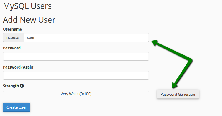 Add User to a Database'