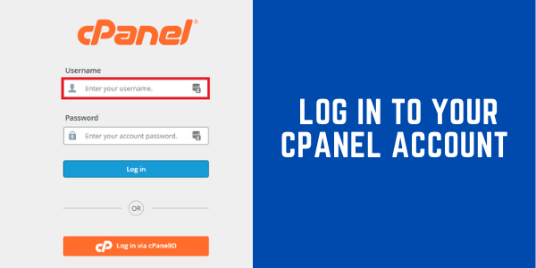 Log in to your Cpanel account